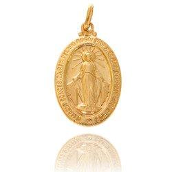 Złoty medalik pr. 585 Cudowny M.B. Niepokalana ZM004