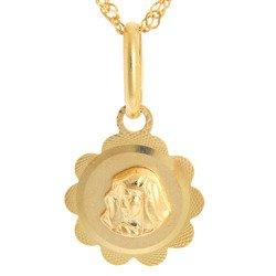 Złoty medalik pr. 585 M.B. Bolesna kwiatek  ZM057