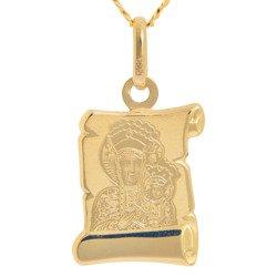 Złoty medalik pr. 585 M.B. Częstochowska papirus ZM040