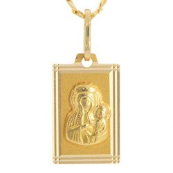 Złoty medalik pr. 585 M.B. Częstochowska prostokąt ZM026