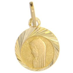 Złoty medalik pr. 585 M.B. Madonna ramka ZM025
