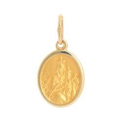Złoty medalik pr. 585 M.B. Szkaplerzna owal z pogrubioną ramką ZM024