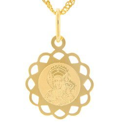 Złoty medalik pr. 585 Matka Boska Częstochowska  ZM096