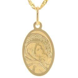 Złoty medalik pr. 585 Matka Boska Wędrowna (cygańska)  ZM091