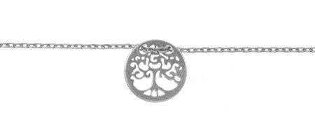 Bransoletka celebrytka - DRZEWKO SZCZĘŚCIA drzewo srebro pr 925 CEL13