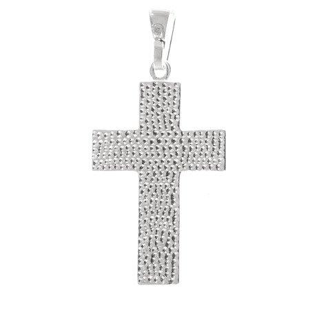 Krzyżyk srebrny z wizerunkiem Jezusa  MO089