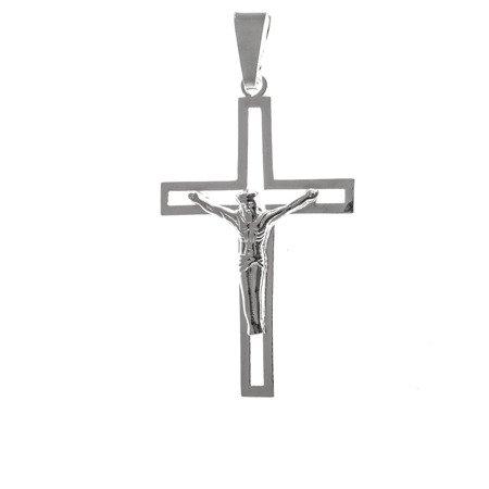 Krzyżyk srebrny z wizerunkiem Jezusa MO109