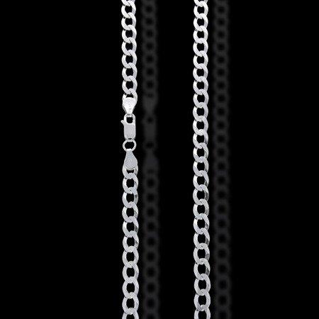 Łańcuszek srebrny pr. 925 pancerka rodowana 5,8 mm 1,3 mm GZP130 6L ROD