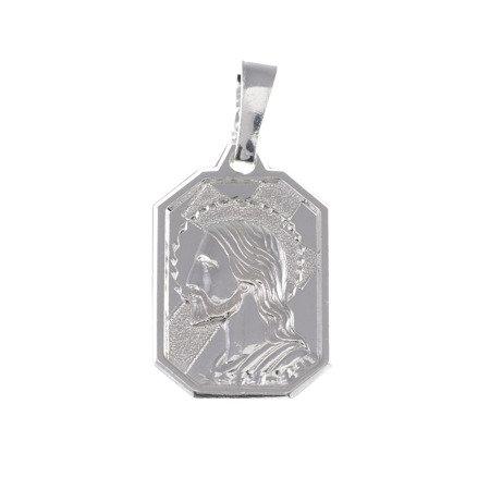M74 Medalik srebrny - Jezus w koronie cierniowej