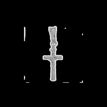 Medalik srebrny - Krzyżyk z wizerunkiem Jezusa MO123