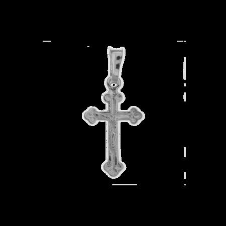 Medalik srebrny - Krzyżyk z wizerunkiem Jezusa MO124