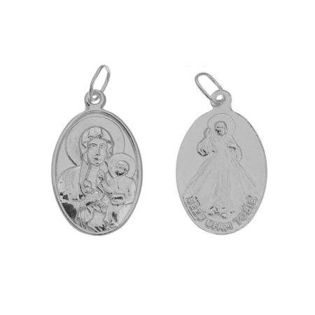 Medalik srebrny - Maryja i Jezus ML013