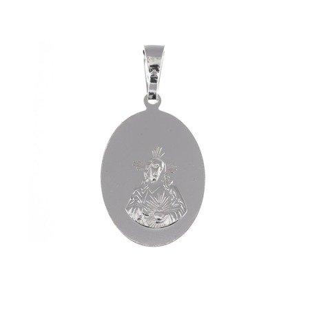 Medalik srebrny - Matka Boża Szkaplerzna Szkaplerz M030