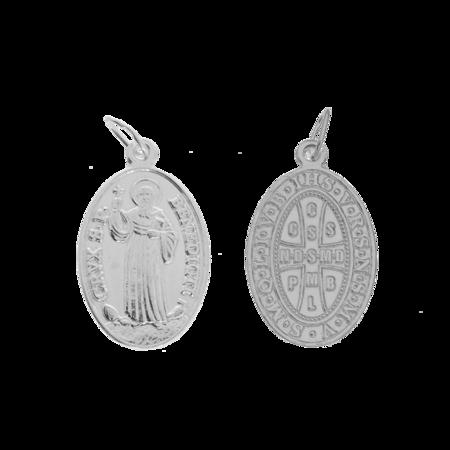 Medalik srebrny - Święty Benedykt ML009