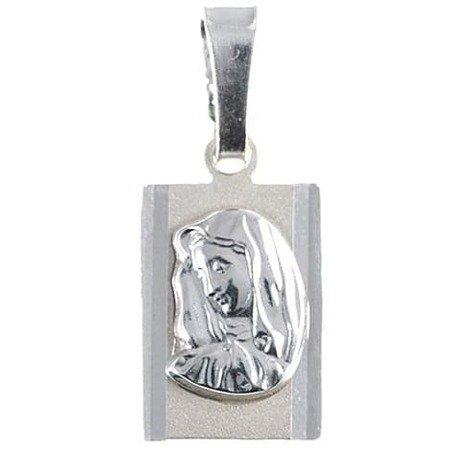Medalik srebrny diamentowy - Matka Boska Bolesna MD7