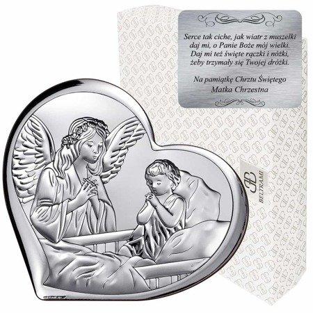 Obrazek srebrny Anioł Stróż 6512