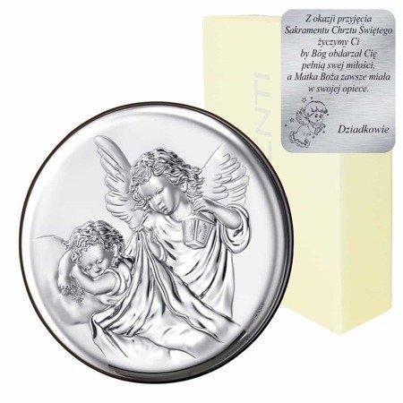 Obrazek srebrny Aniołek Stróż z latarenką 18023