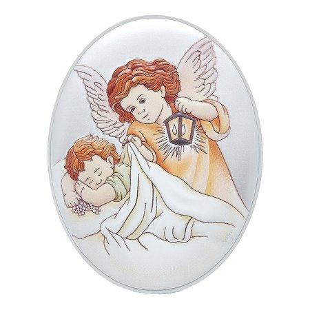 Obrazek srebrny Aniołek z latarenką 31000BCERA