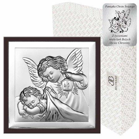 Obrazek srebrny Aniołek z latarenką 6387WM