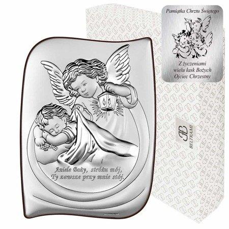 Obrazek srebrny Aniołek z latarenką 6473S
