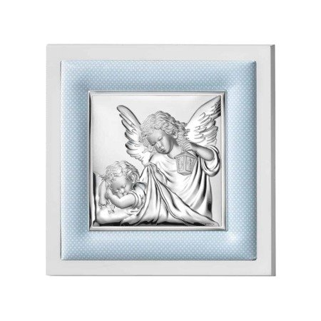 Obrazek srebrny Aniołek z latarenką 75020C
