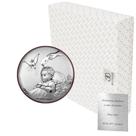 Obrazek srebrny Chrzest Święty 6536
