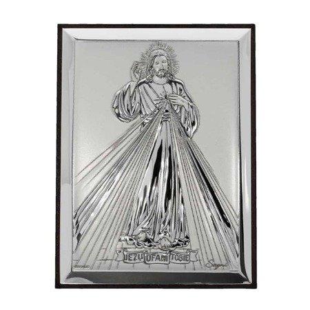 Obrazek srebrny Jezus Miłosierny – Jezu Ufam Tobie 31136