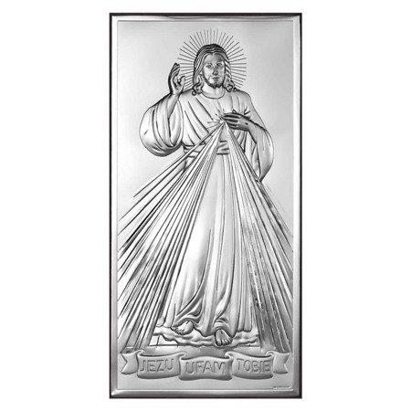 Obrazek srebrny Jezus Miłosierny – Jezu Ufam Tobie 6443