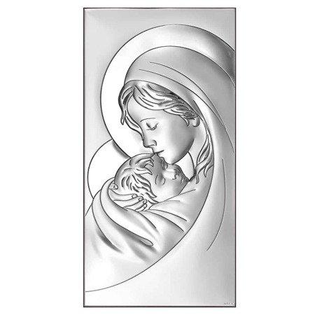 Obrazek srebrny Matka Boska z dzieciątkiem 6381