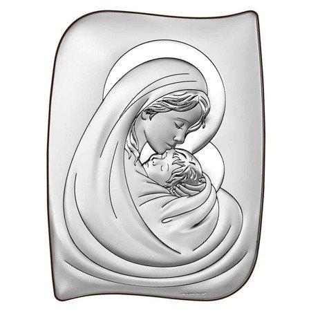 Obrazek srebrny Matka Boska z dzieciątkiem 6467