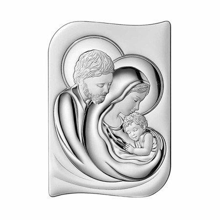 Obrazek srebrny Święta Rodzina Pamiątka Ślubu 2643