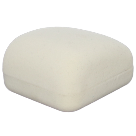 Pudełko flokowe białe  PUD-1 B