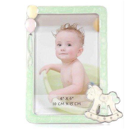 Ramka dziecięca z masy perłowej - konik, balony 473-3328