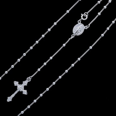 Różaniec srebrny - 5 dziesiątek na szyję 8,1-8,5g, srebro pr. 925 RC002