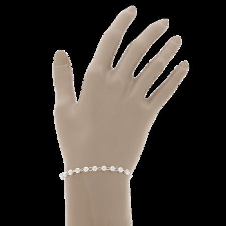 Różaniec srebrny - bransoletka różańcowa na rękę, dziesiątka, 3,8-4,6 g, srebro pr. 925 BRS54