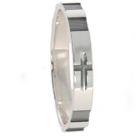 Różaniec srebrny obrączka na palec, rozmiary 12-22 Srebro pr. 925 RPM13