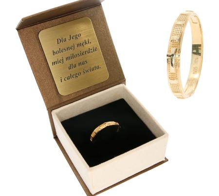 Różaniec złoty obrączka na palec, rozmiary 12-26  złoto pr. 585 ZRP01/BA-3/A21