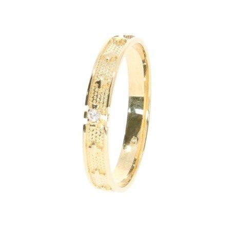 Różaniec złoty obrączka na palec, rozmiary 12-26  złoto pr. 585 ZRP02/BA-3/A21