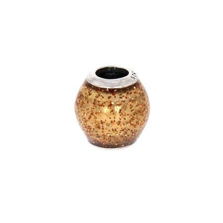 Srebrna przywieszka pr 925 Charms kulka brokat złoto PAN061