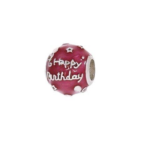 Srebrna przywieszka pr 925 Charms kulka urodziny PAN059