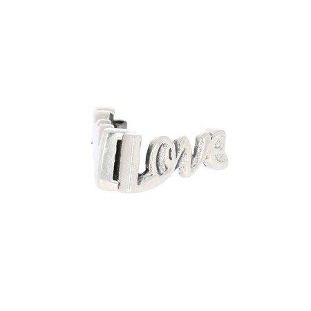 Srebrna przywieszka pr 925 Charms płaski napis Love PANP015