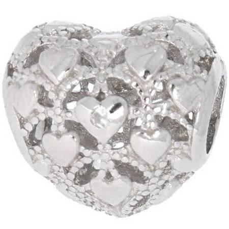 Srebrna przywieszka pr 925 Charms serce małe serduszka PAN011