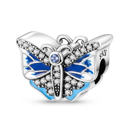 Srebrna przywieszka pr 925 Charms serce ze złoconym drzewem PAN239