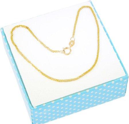 Złota bransoleta LISI OGON Diamentowana dwukolorowa 19 cm  ZBD002