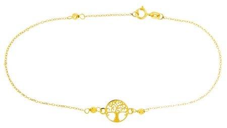 Złota bransoleta celebrytka DRZEWKO SZCZĘŚCIA 19 cm 18,5 cm cm ZBD004