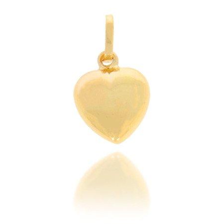 Złota przywieszka pr. 585 Serce duże gładkie ZP020
