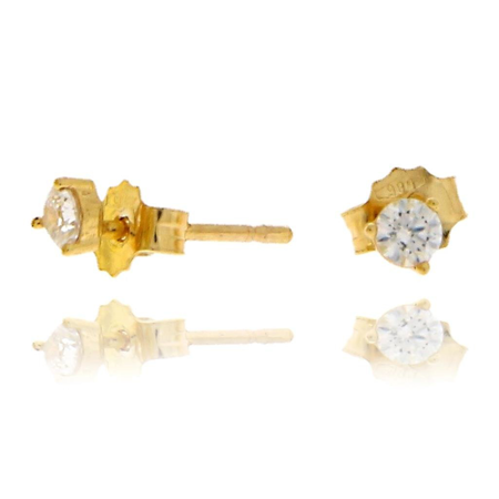 Złote kolczyki pr. 585 cyrkonie sztyft ZA002