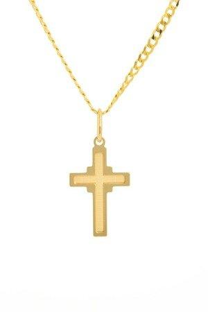 Złoty krzyżyk pr. 585 Krzyżyk ZK044