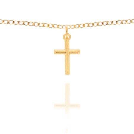 Złoty krzyżyk pr. 585 Krzyżyk prosty ZK023