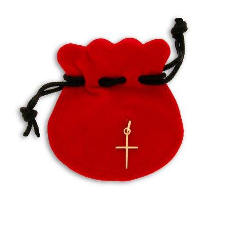 Złoty krzyżyk pr. 585 Krzyżyk prosty ZK026